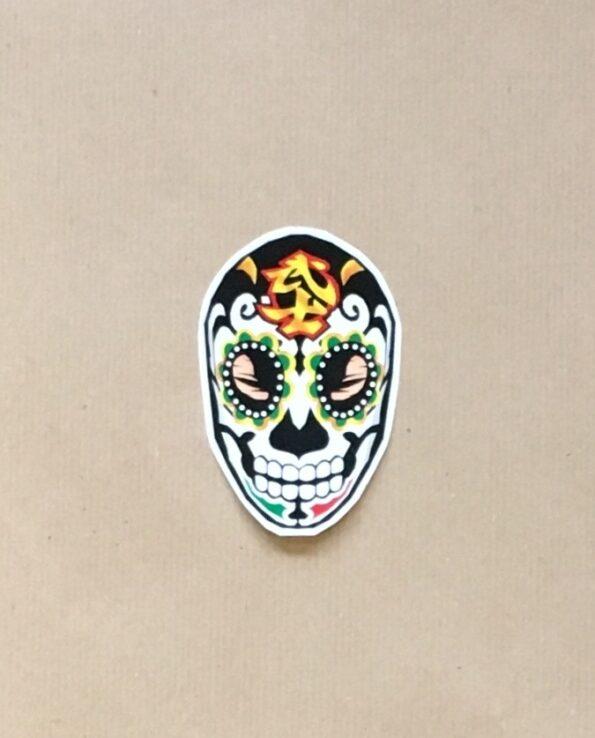 Sticker luchador Bushi - skull collection grafeur Docteur Rabias