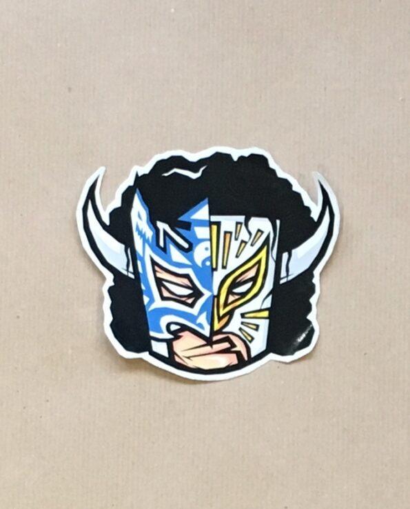 Sticker Luchador Toro Blanco collection grafeur Docteur Rabias