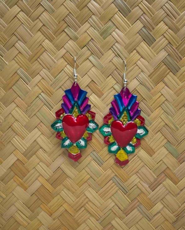 Boucles d'oreilles coeur ex-voto - Rombo