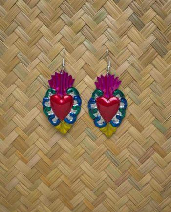 Boucles d'oreilles coeur ex-voto - Barroco