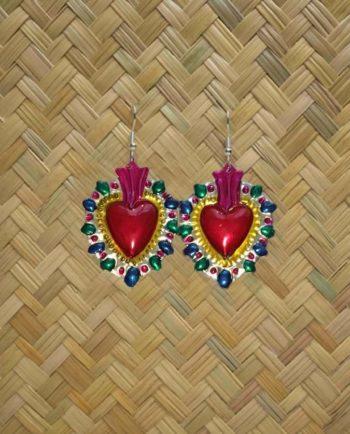 Boucles d'oreilles coeur ex-voto - picos