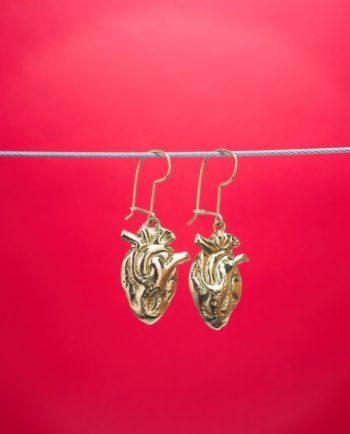Boucles d'oreilles coeur anatomique - Or
