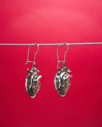 Boucles d'oreilles coeur anatomique - Argent
