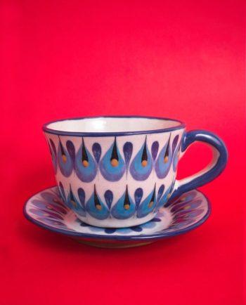 Tasse et soucoupe céramique artisanale du Guatemala