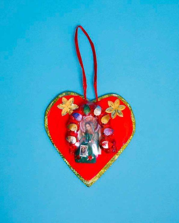 Protection mexicaine du fer à cheval. Forme de coeur. Modèle 18cm