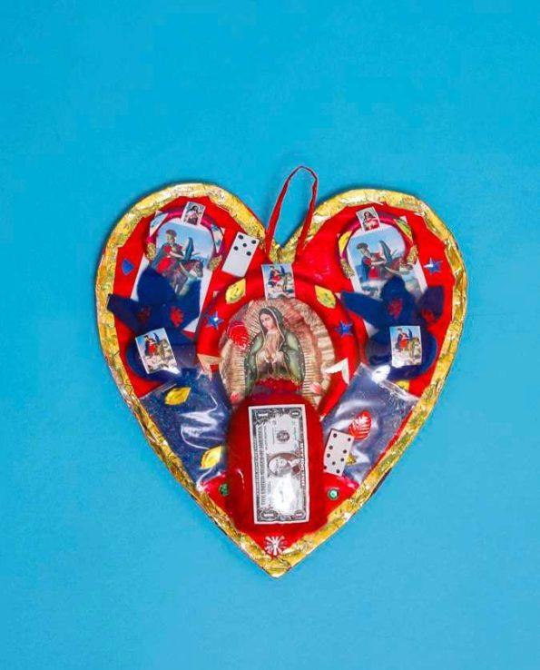 Protection mexicaine du fer à cheval. Forme de coeur. Modèle 30cm
