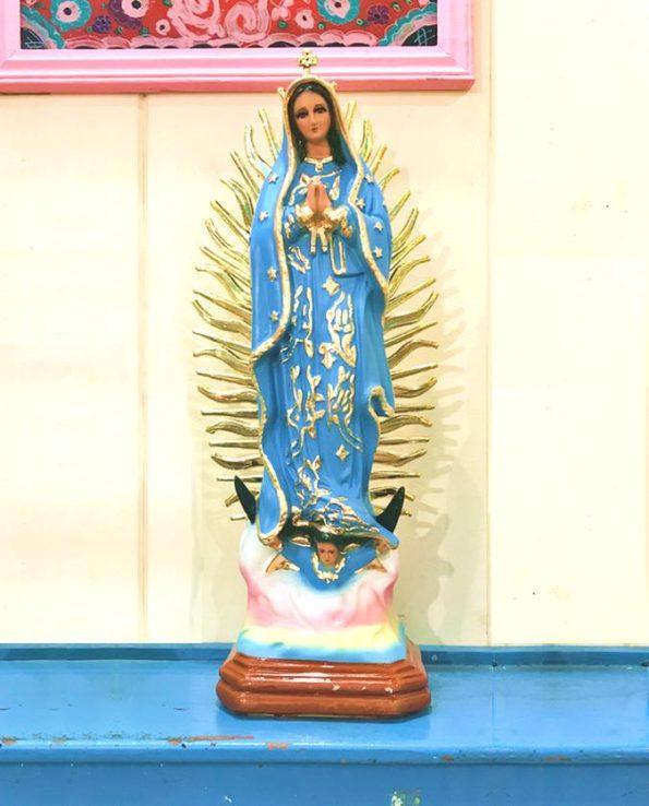 Vierge de Guadalupe Bleu 30