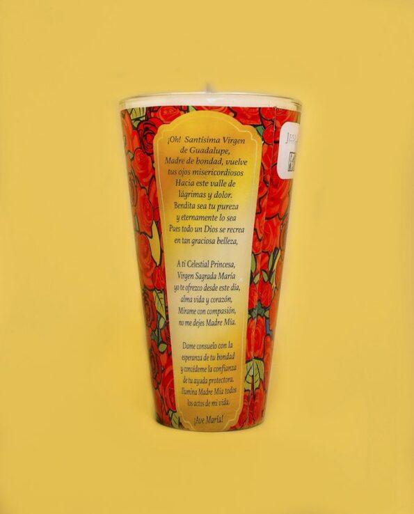 Bougie parfumée Vierge de Guadalupe - dos