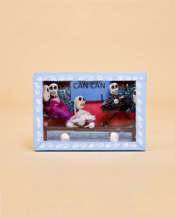 Vitrine mexicaine mini-squelettes Can Can