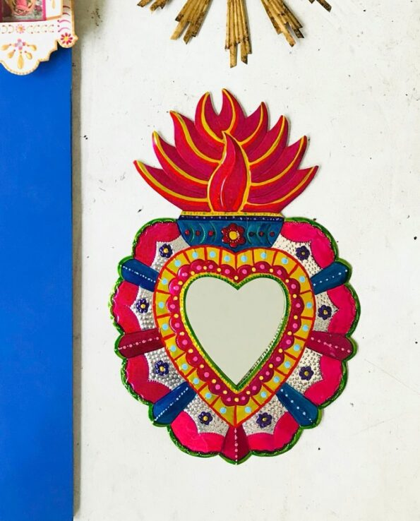 Miroir coeur alegria couleurs vives