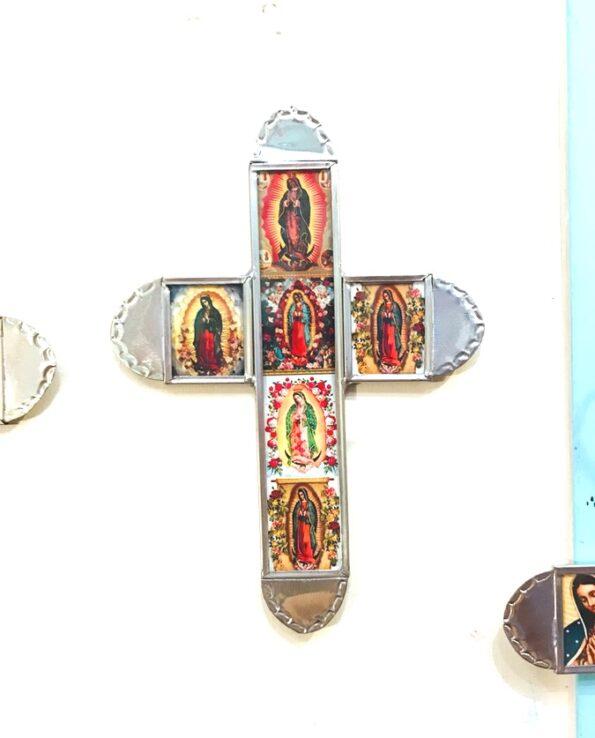 Croix mexicaine Vierge de Guadalupe