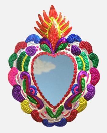 miroir coeur ex-voto environ 40cm