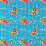 Toile cirée mexicaine rosedal bleu ciel