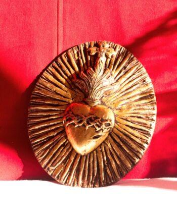 Coeur couronne d'épines doré