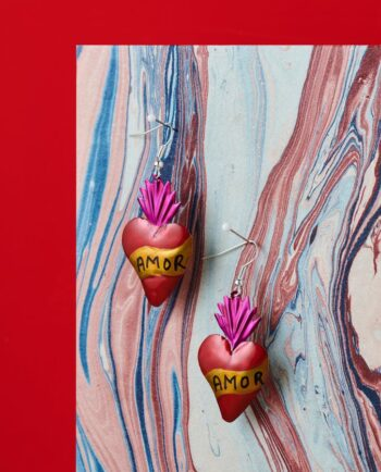 Boucles d'oreilles coeur ex-voto - Amor