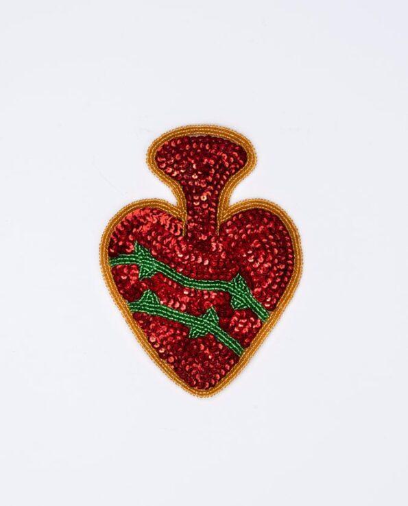 Ecusson coeur sacré couronne d'épines