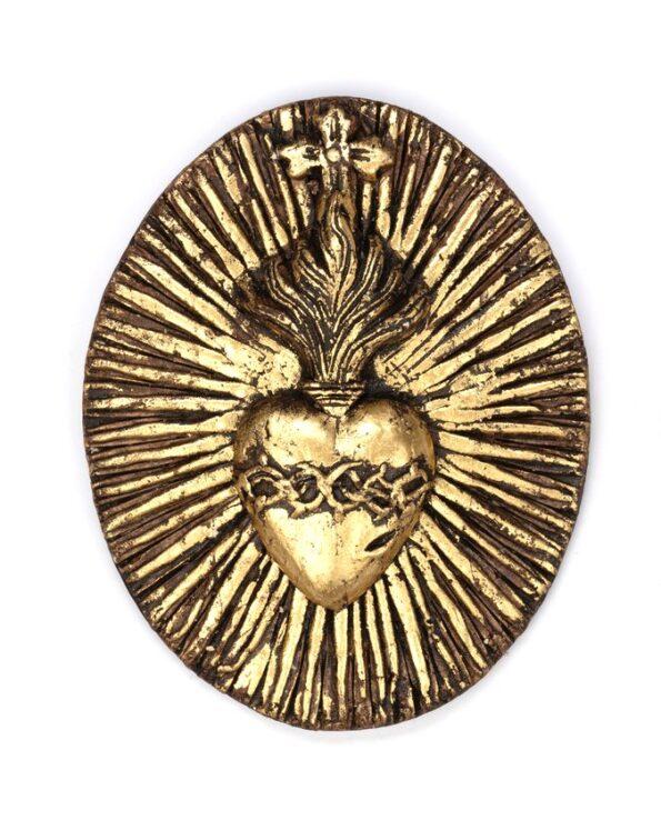 Coeur couronne d'épines doré - 2