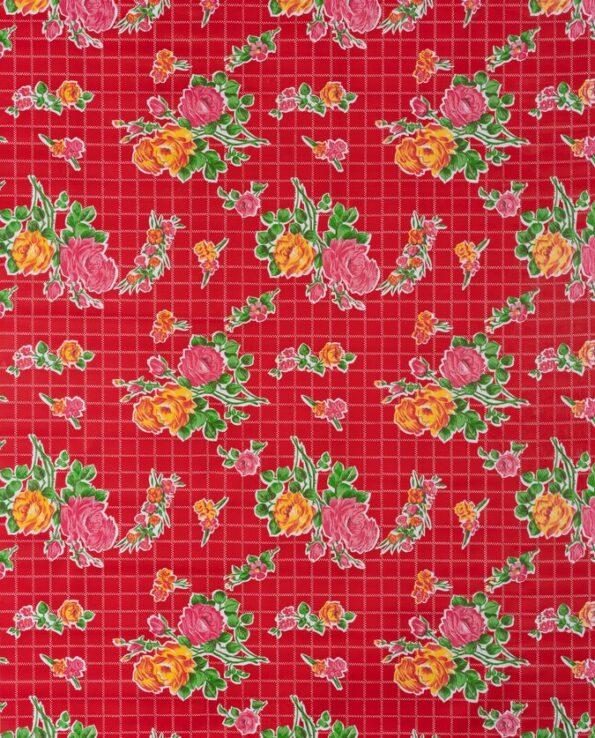 Toile cirée mexicaine rosedal rouge